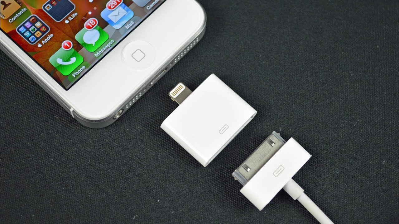 Apple Lightning To 30 Pin Adapter Demo Youtube Charger Iphone 4g 4s