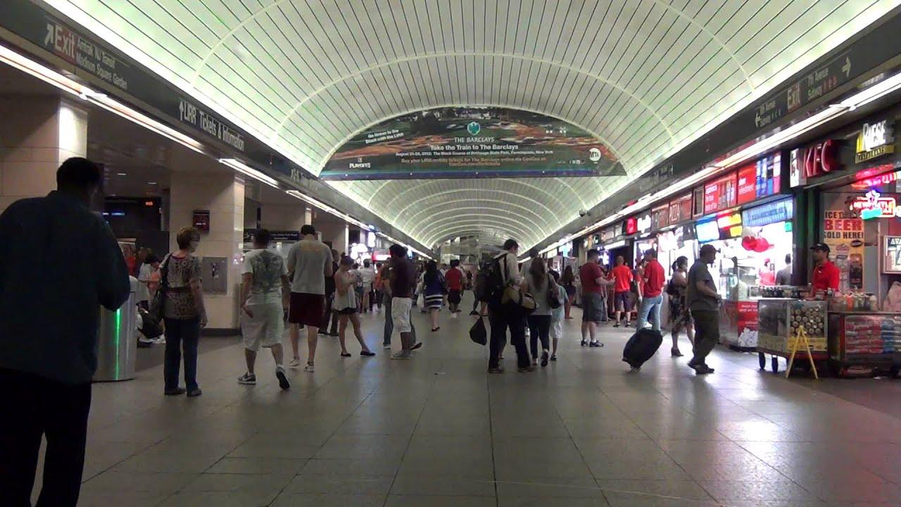 Penn Station Nyc Map Inside.Inside Penn Station New York Youtube