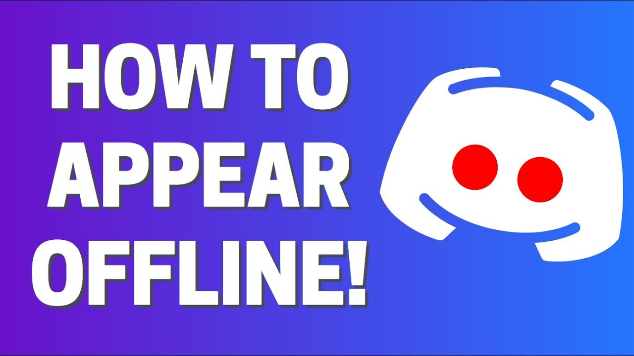 How To Appear Offline On Discord Custom Status Youtube