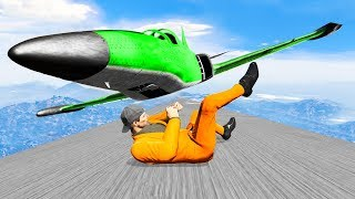 WORLD'S HARDEST DODGE THE AIRPLANE CHALLENGE! (Gta 5 Funny Moments)