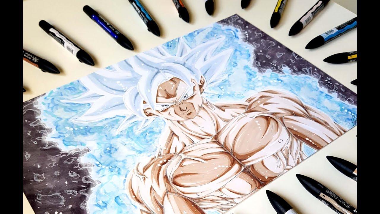 Drawing mastered ultra instinct son goku oda youtube - Goku ultra instinct sketch ...