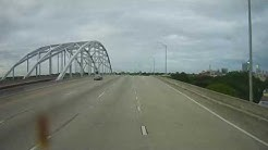 Driving through Jacksonville, Florida on Interstate 10 and I95