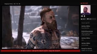 God of War 4 - Baldur Son of Odin Boss Fight #1!!!