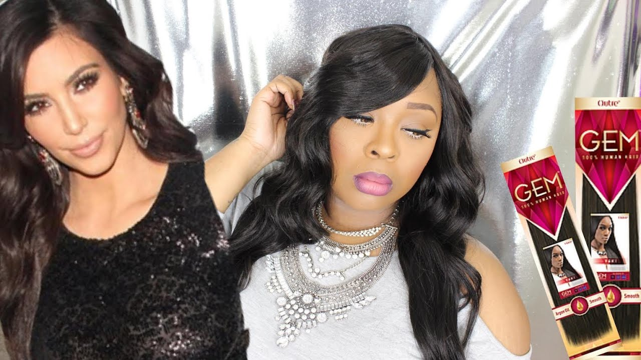 Kim K Inspired Quick Weave With Beauty Supply Hair 2 Styles With
