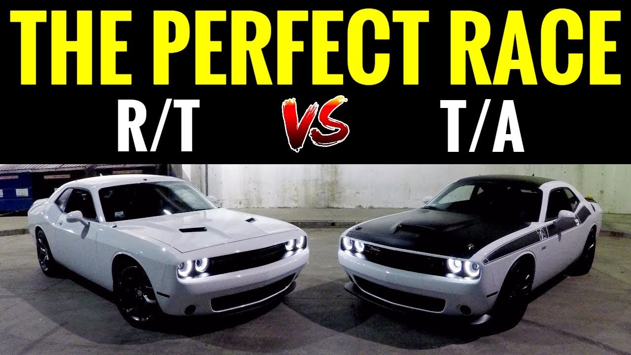 What Does Dodge Rt Stand For >> Dodge Challenger Ta 392 6 4l Vs Challenger Rt 5 7l Street Race