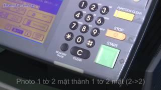 Hướng dẫn photo ghép trang, chia bộ trên máy photocopy Toshiba - http://thanhdat.com.vn/