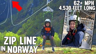 INSANE Longest Zip Line!! Twins in Norway Part 2