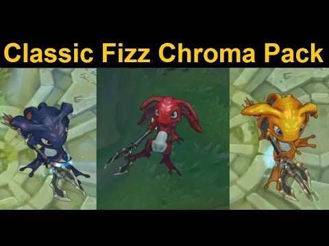 Fizz Classic Skin Chroma Pack Deep Blue Red Herring And