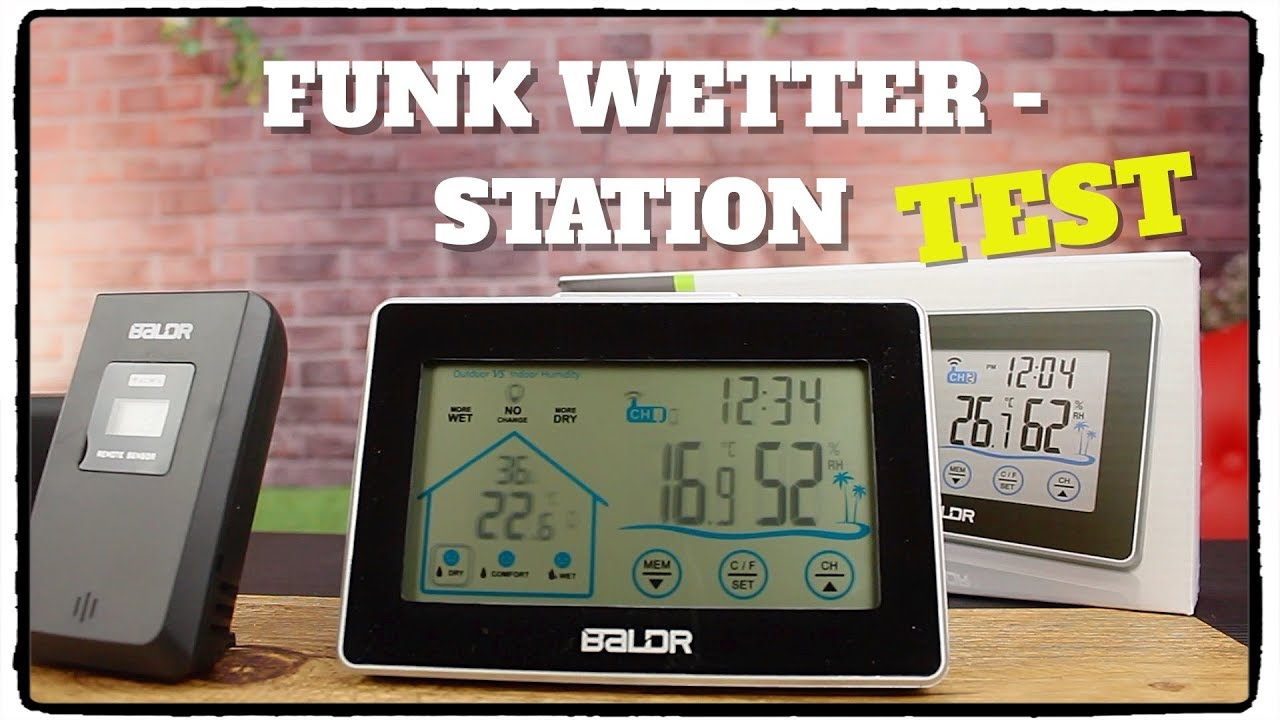 Test Baldr Funk Wetterstation Von Amazon Youtube
