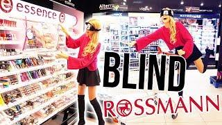 BLIND für 1 STUNDE BEI ROSSMANN EINKAUFEN 😱 | LIVE HAUL | XLAETA