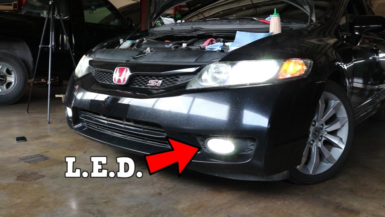Attractive OEdRo LED Fog Lights Install 2011 Honda Civic Si FA5