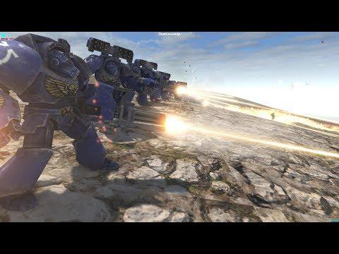 Terminators kill Tyranids - Men of War Warhammer 40K Cinematic (FINALE)  