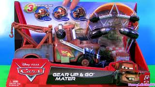 Cars 2 Gear Up and Go Lightning McQueen With Mater Buildable FunToys Review Disney Pixar thumbnail
