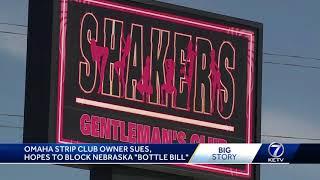 Omaha strip club owner sues, hopes to block Nebraska 'bottle bill'