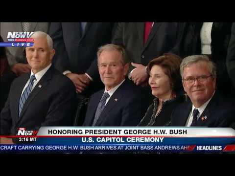 FULL CAPITOL CEREMONY: President George H.W. Bush Lying In State
