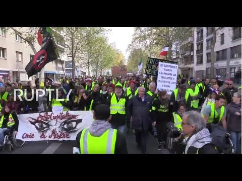 LIVE: Yellow Vests demonstrate in Paris following end of nationwide debate