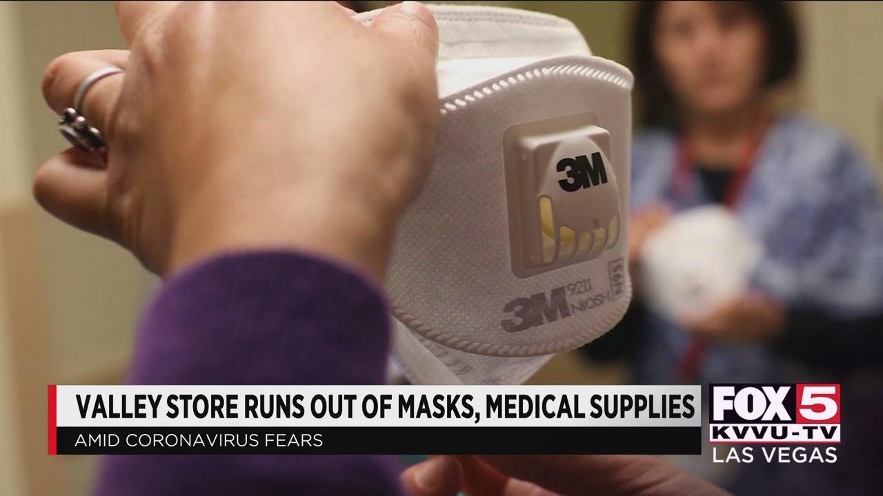 Las Vegas store runs out of masks amid coronavirus outbreak - YouTube