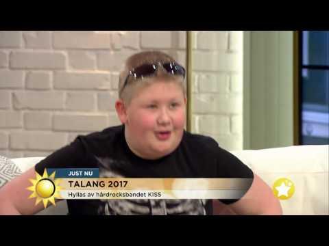Legendariska rockgruppens hälsning till Talang-Oliver - Nyhetsmorgon (TV4)
