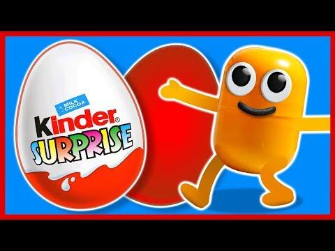 Видео, 100 КИНДЕР СЮРПРИЗОВ. Живая капсула. МУЛЬТИК. Kinder Surprise