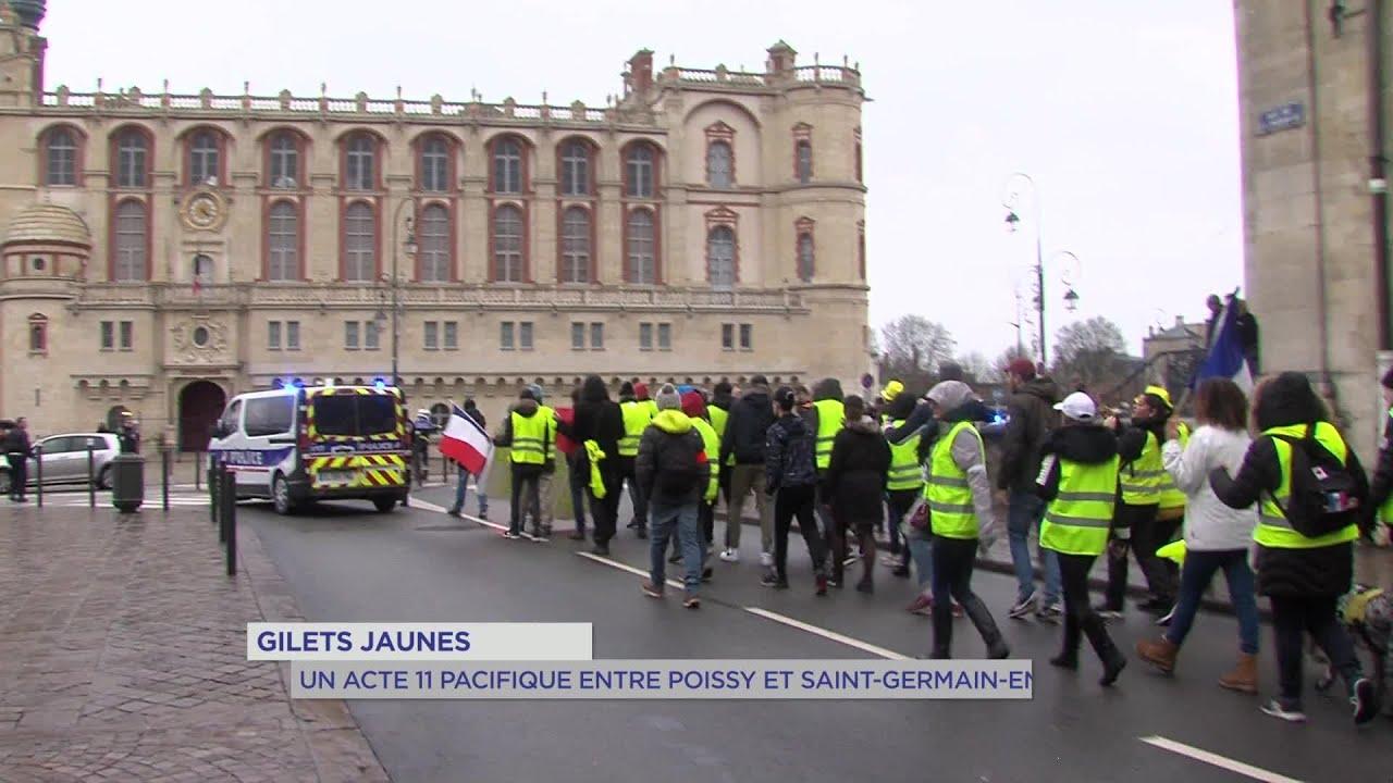 Yvelines | Gilets jaunes : un acte 11 pacifique entre Poissy et Saint-Germain-en-Laye