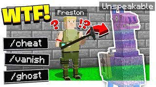 FUNNY FORTNITE HIDE & SEEK in MINECRAFT! | UNSPEAKABLE CHEATED! - Minecraft Mods