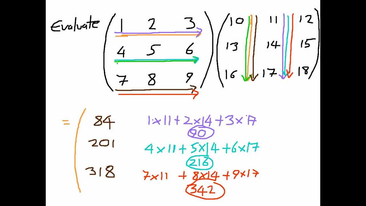 How to Multiply Matrices - A 3x3 Matrix by a 3x3 Matrix