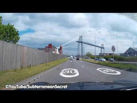 Dash Cam Footage of the Transporter Bridge across the River Usk in Newport