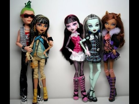 MONSTER HIGH COLORING PAGES - YouTube