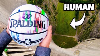 CATCHING BASKETBALLS at TERMINAL VELOCITY from 165m Dam! thumbnail