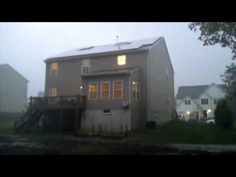 Solar panels in a hurricane