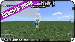 UPDATE - Elemental Sword - MOD Minecraft Bedrock Edition 1.2.10+ - Download