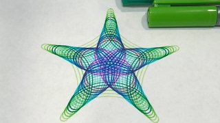 Cool Color Star Gradient | Spirograph