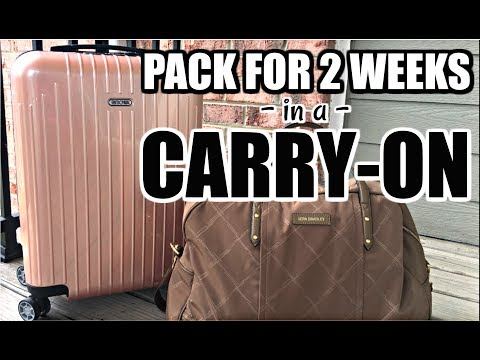 HOW TO PACK WITH CARRY-ONS | 2 Weeks in Europe
