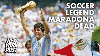 Soccer legend Diego Maradona dead at 60 | New York Post