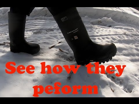 Walking Around In The Dunlop Explorer Purofort Rubber Boots With Vibram Soles (part 2 Of 2)
