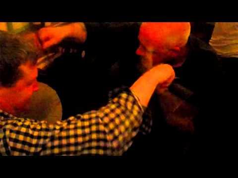 Fergal & John playing bodhran @ O'Hanlon's in Mullagbawn