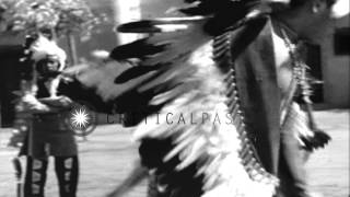 Native American Indians perform tribal dances at California Pacific International...HD Stock Footage