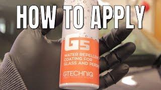 GTECHNIQ G4 & G5 MAXREPELLENCY GLASS KIT - HOW TO APPLY - GTECHNIQ COUPON CODE