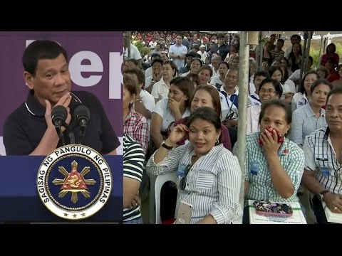 PRESIDENT DUTERTE Visit to the New Hope Village Housing Project Speech JANUARY 25, 2017