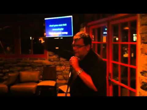 Paul leal at the Windermere karaoke night