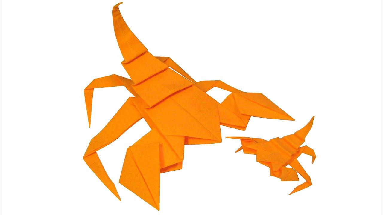 origami scorpion youtube