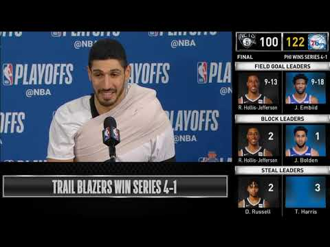Enes Kanter postgame reaction | Thunder vs Blazers - Game 5 | 2019 NBA Playoffs