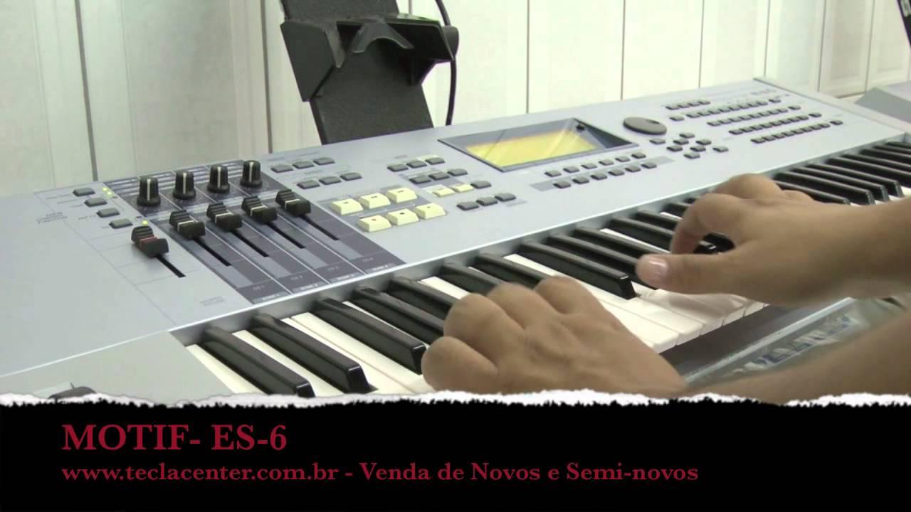 Yamaha motif es7 76 key synthesizer w/ dvd manual & sustain pedal.