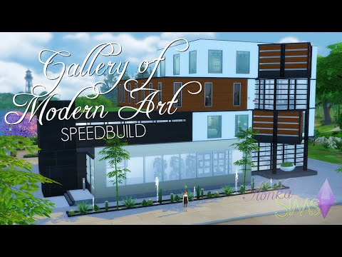 The Sims 4 Speed Build - Gallery of Modern Art