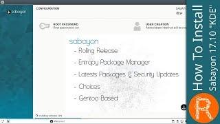 """How To Install Sabayon 17.10 """"KDE"""""""