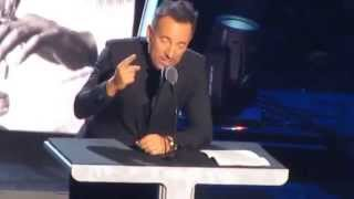 Bruce Springsteen Complete Rock & Roll Hall of Fame Induction Speech for E Street Band