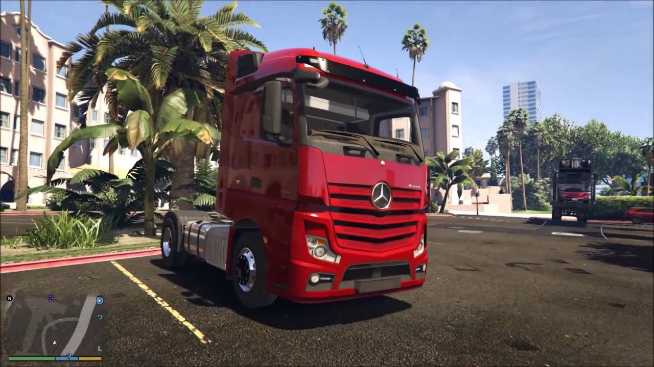 Euro Truck Simulator GTA 5 Mercedes Truck Mod