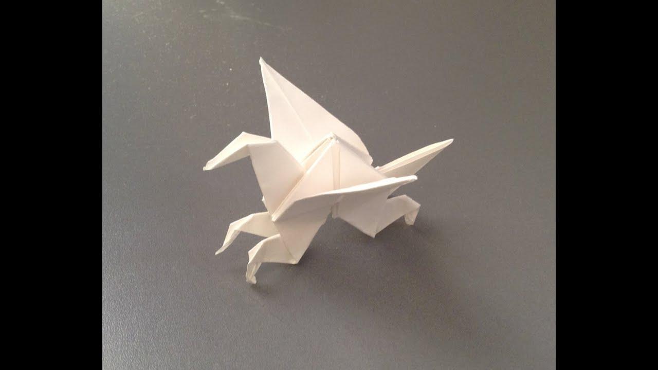 How to Make a Origami Pegasus Instructions : よく飛ぶ紙飛行機折り紙折り方 : すべての折り紙