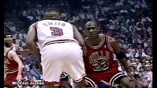 Michael jordan vs steve smith! look at my eyes rookie! (1992 playoffs)
