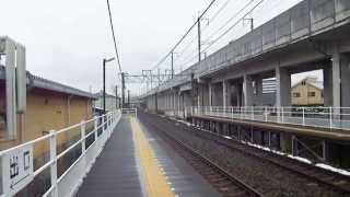 【快速】HB-E300系RESORT HYBRID TRAIN リゾートビューふるさと安茂里駅通過+しなの鉄道115系S9編成